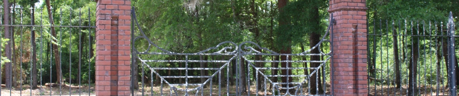 Wrought Iron Cemetery gate